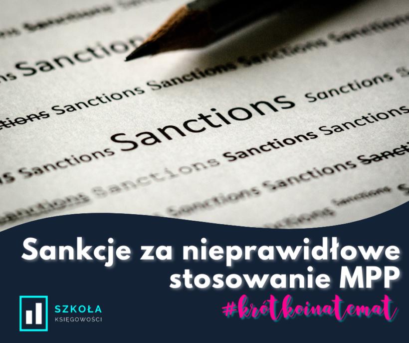 sankcje za nieprawidłowe stosowanie MPP